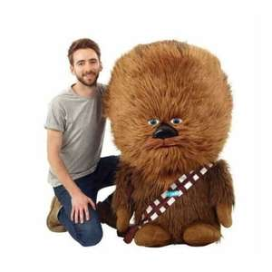 Peluche Funko Star Wars: Big Head Chewbacca - Taille : 1,20 m, sons (3 piles LR44 incluses)
