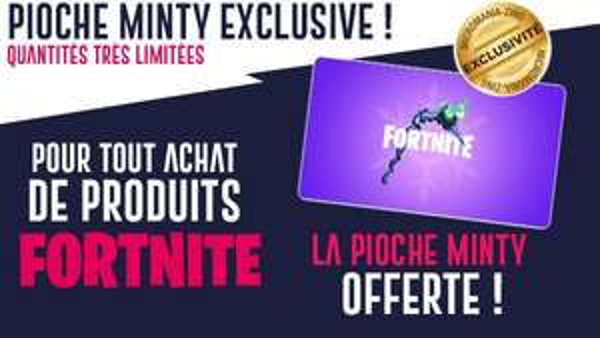 Sachet de stickers Fortnite + DLC La Pioche Minty offert (dématérialisé)