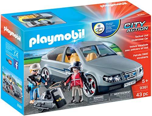 Jouet Playmobil Voiture banalisée avec policiers en Civil 9361