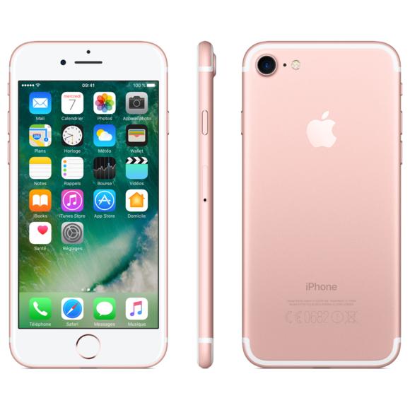 """Smartphone 4.7"""" Apple iPhone 7 - 32 Go, Or Rose (Reconditionné - Très Bon état)"""