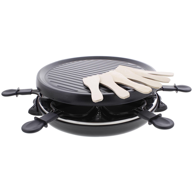 Set pour raclette Tristar - 6 poêlettes et spatules en bois, 800 W