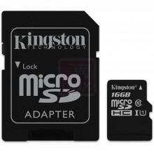 Carte 16 Go microSDHC Kingston classe 10 avec (ou sans) adaptateur