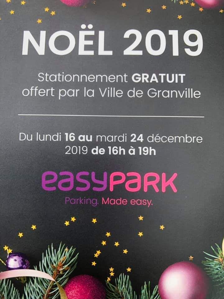 Stationnement gratuit du 16 au 24 décembre de 16h à 19h à Granville (50)