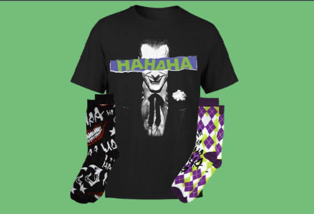 1 T-Shirt & 2 Paires de Chaussettes DC Comics parmi une sélection