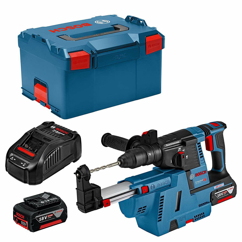 Perforateur Bosch Professionnal GBH 18v-26F, système d'aspiration, Batteries 6Ah,chargeur, Lboxx (svh24.de)