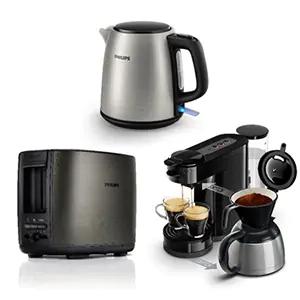 Kit petit-déjeuner Machine à café Senseo Switch HD7892/61 + Bouilloire HD9348/10 + Grille Pain HD2628/80