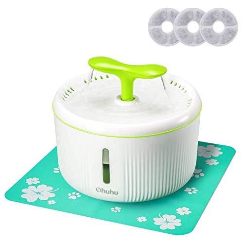 Fontaine à eau pour chat et chien Ohuhu + 3 filtres à charbon + tapis (vendeur tiers)