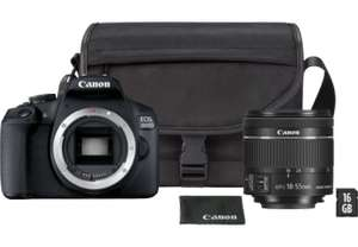 Appareil Photo Reflex Canon EOS 2000D + EF-S 18-55mm + Sac SB130 + Carte SD 16 GB (Frontaliers Suisse)