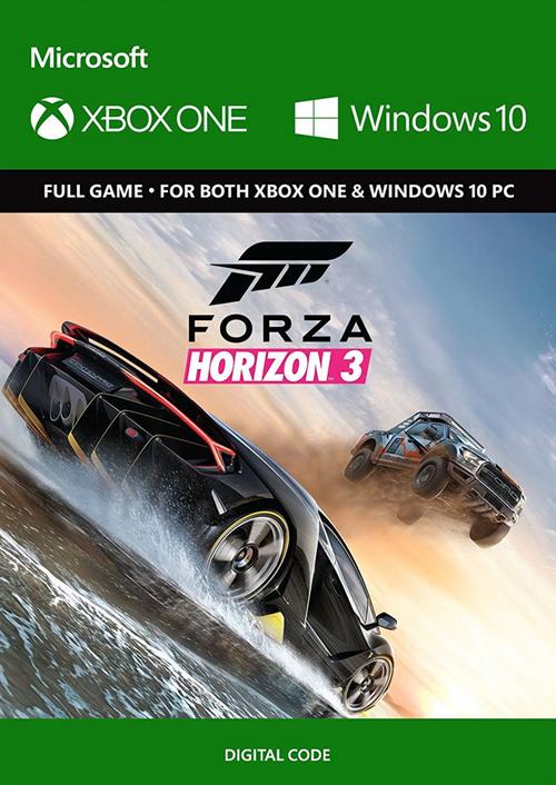 Jeu Forza horizon 3 sur Xbox One ou Windows 10 (Dématérialisé)