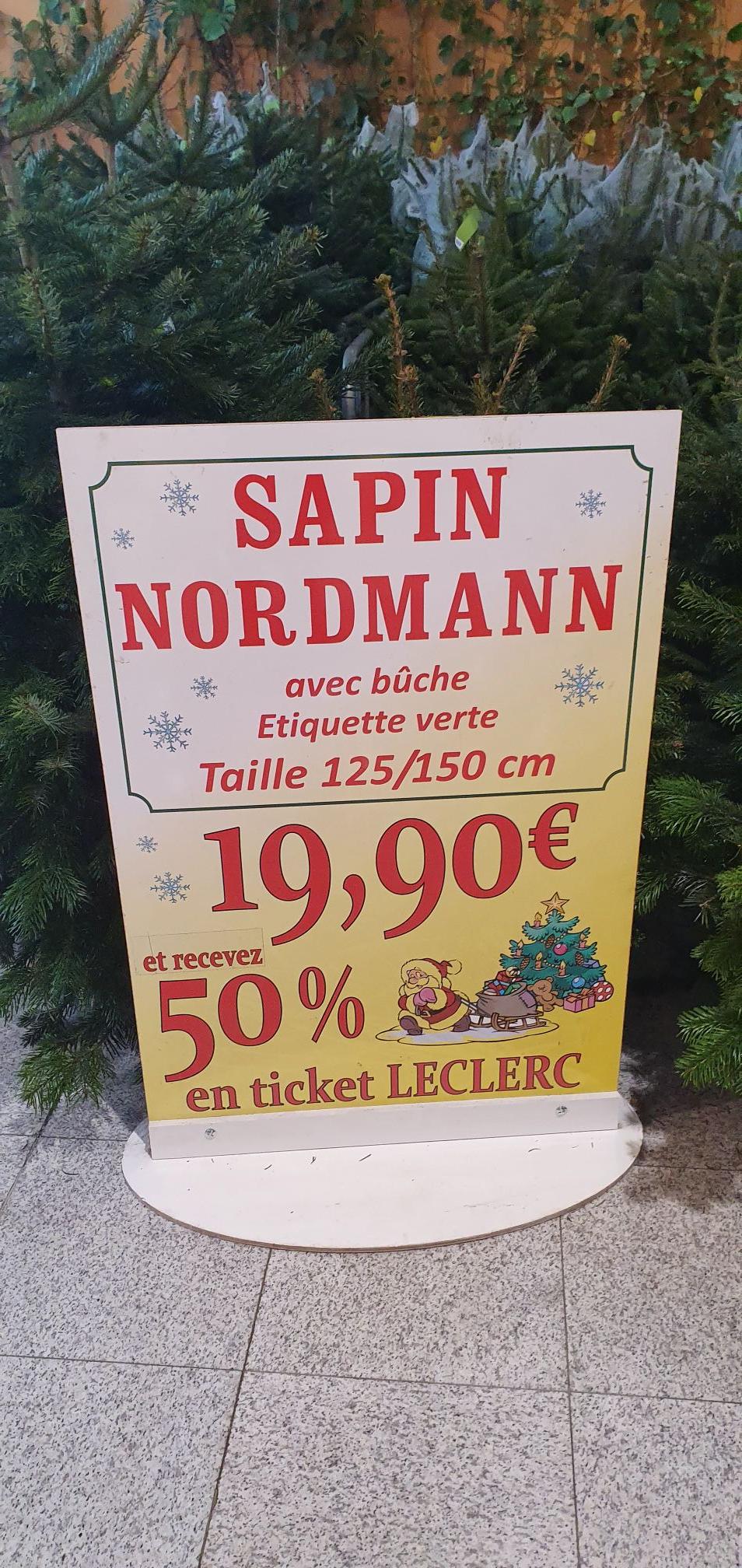 Sapin Nordmann 125/150Cm (+9.95€ en bon d'achat) - Clermont-Ferrand (63)