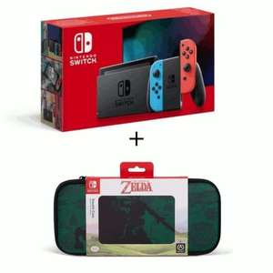 Pack Console Nintendo Switch 2019 - Néon + Housse Zelda