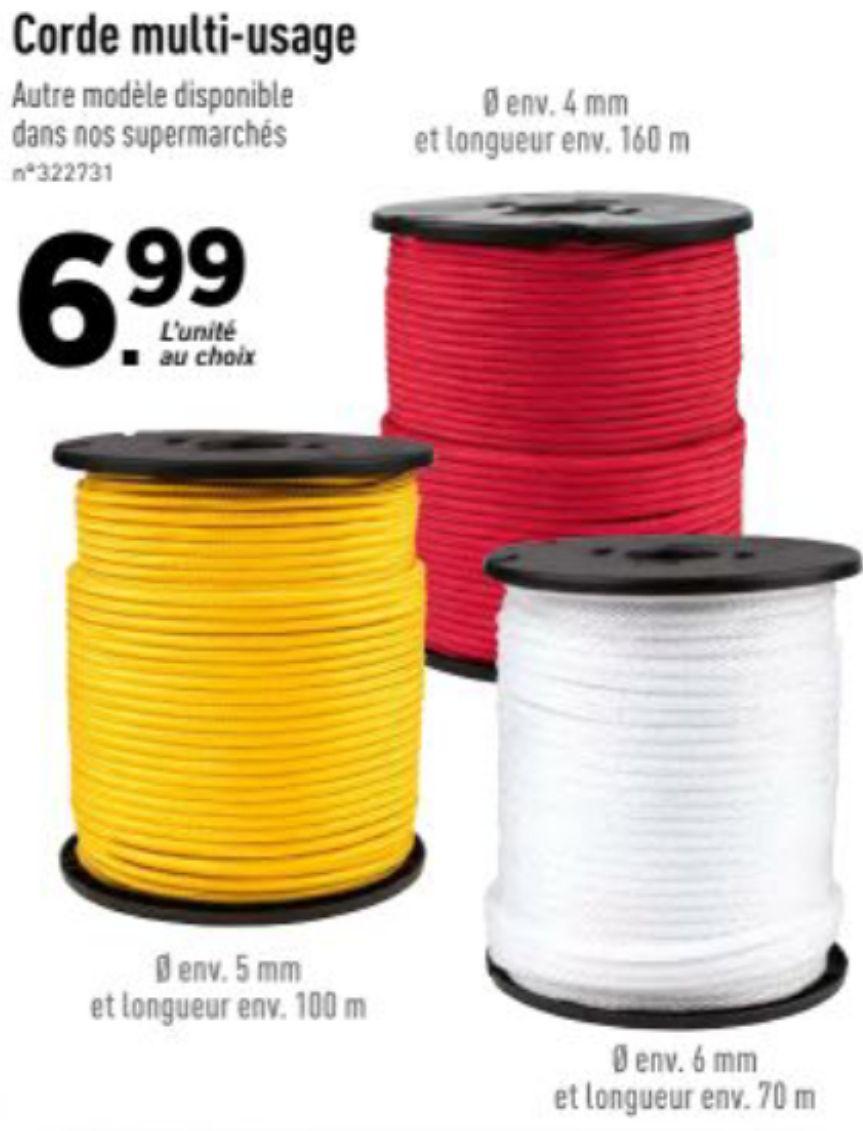 Corde multi-usages - Différentes longueurs et épaisseurs