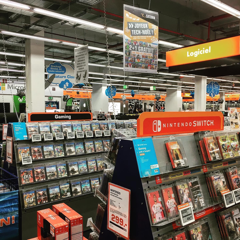 2 jeux vidéo achetés = 1 jeu vidéo offert (le moins cher) - Saturn Esch-sur-Alzette & Luxembourg (Frontaliers Luxembourg)
