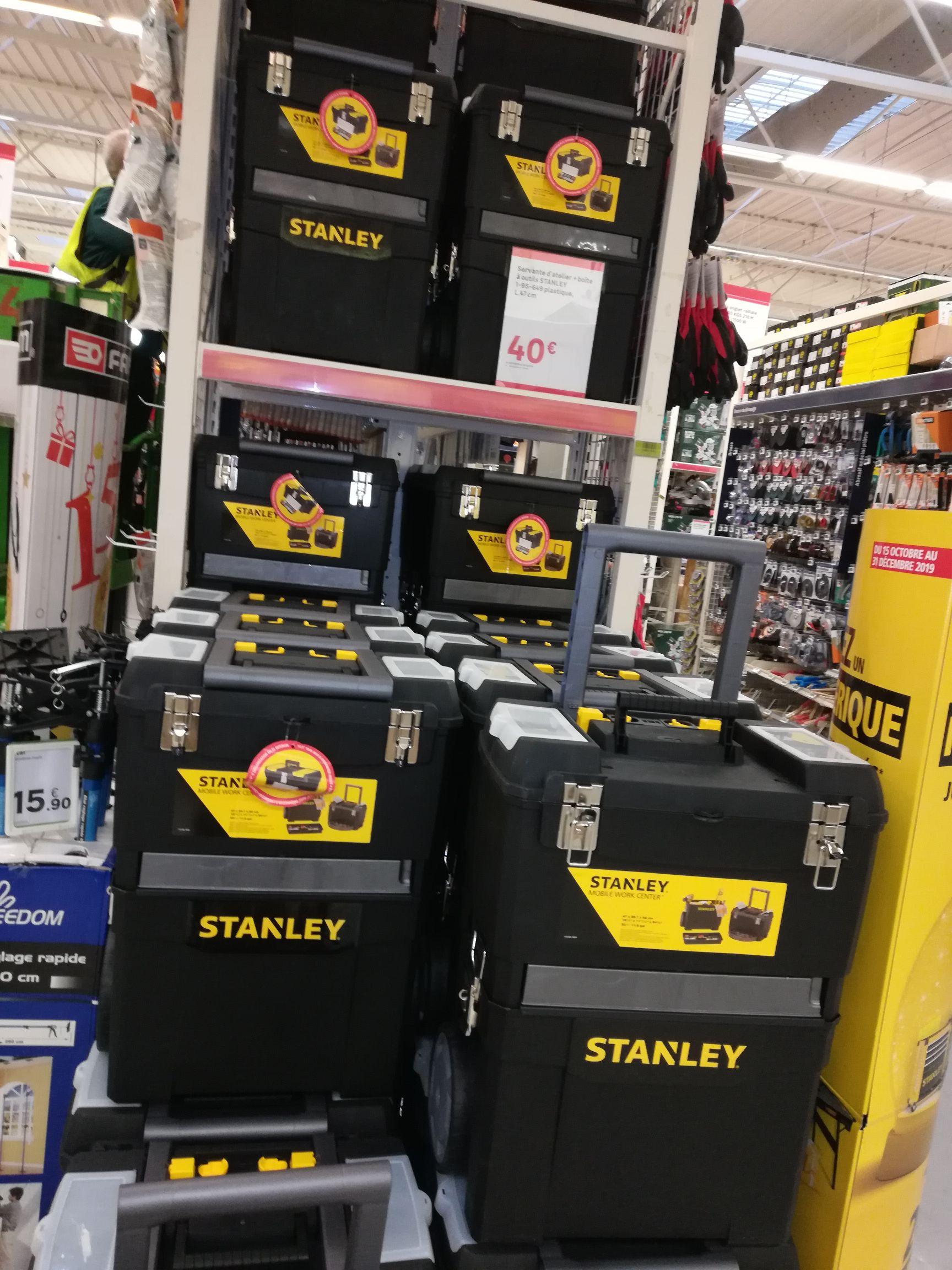 Servante Datelier Boîte à Outils Stanley 47 Cm La