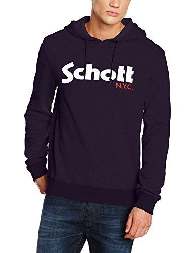 Sweat-shirt à capuche Schott NYC Swhood - bleu Navy (taille L)
