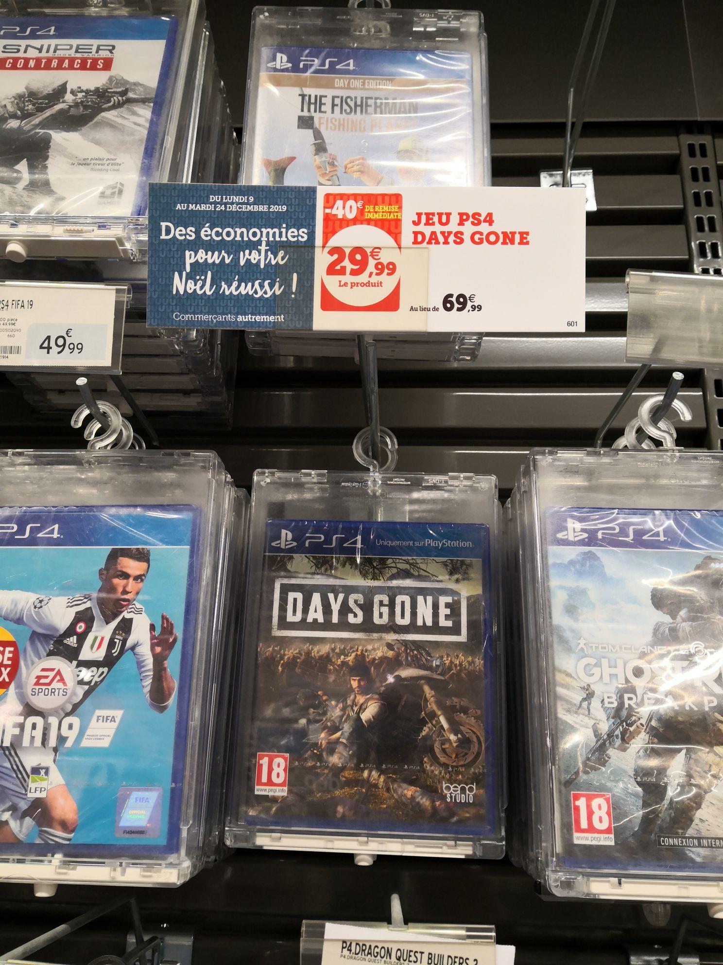 Sélection de produits en promotion - Ex : Days Gone sur PS4 - Fontenay-le-Comte (85)