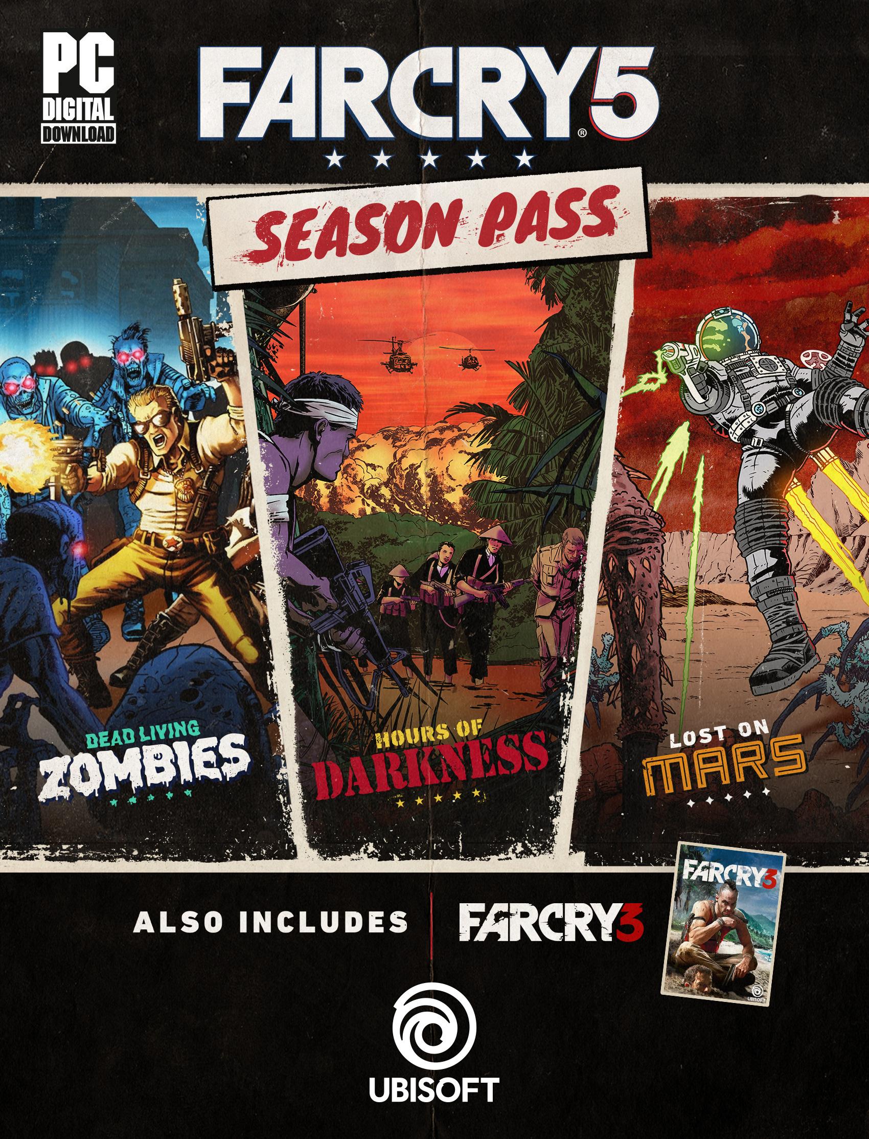Season Pass pour Far Cry 5 + Far Cry 3 Édition Classic sur PC (dématérialisés, Uplay)