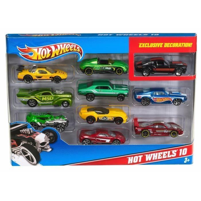 Coffret 10 voitures Hot Wheels - Modèles aléatoires