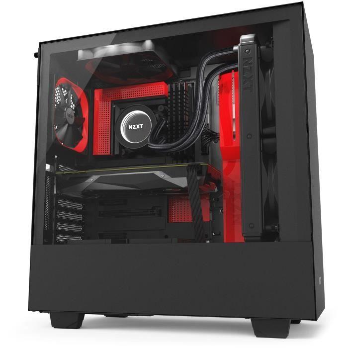 Boitier PC NZXT H500i - Noir/Rouge
