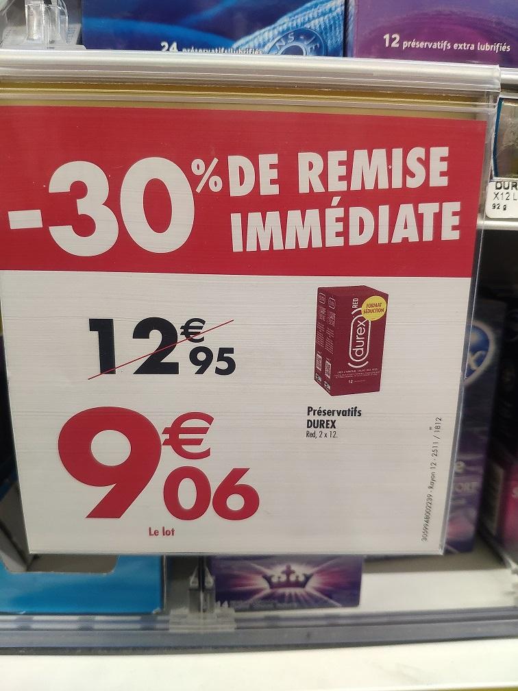Boite de 24 Préservatifs Durex - Carrefour Cernay (51)