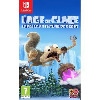 Jeu L'âge de glace, la folle aventure de Scrat sur Nintendo Switch + Lunettes Aviator
