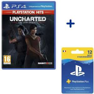 Pack Uncharted: The Lost Legacy + Abonnement 12 mois PlayStation Plus
