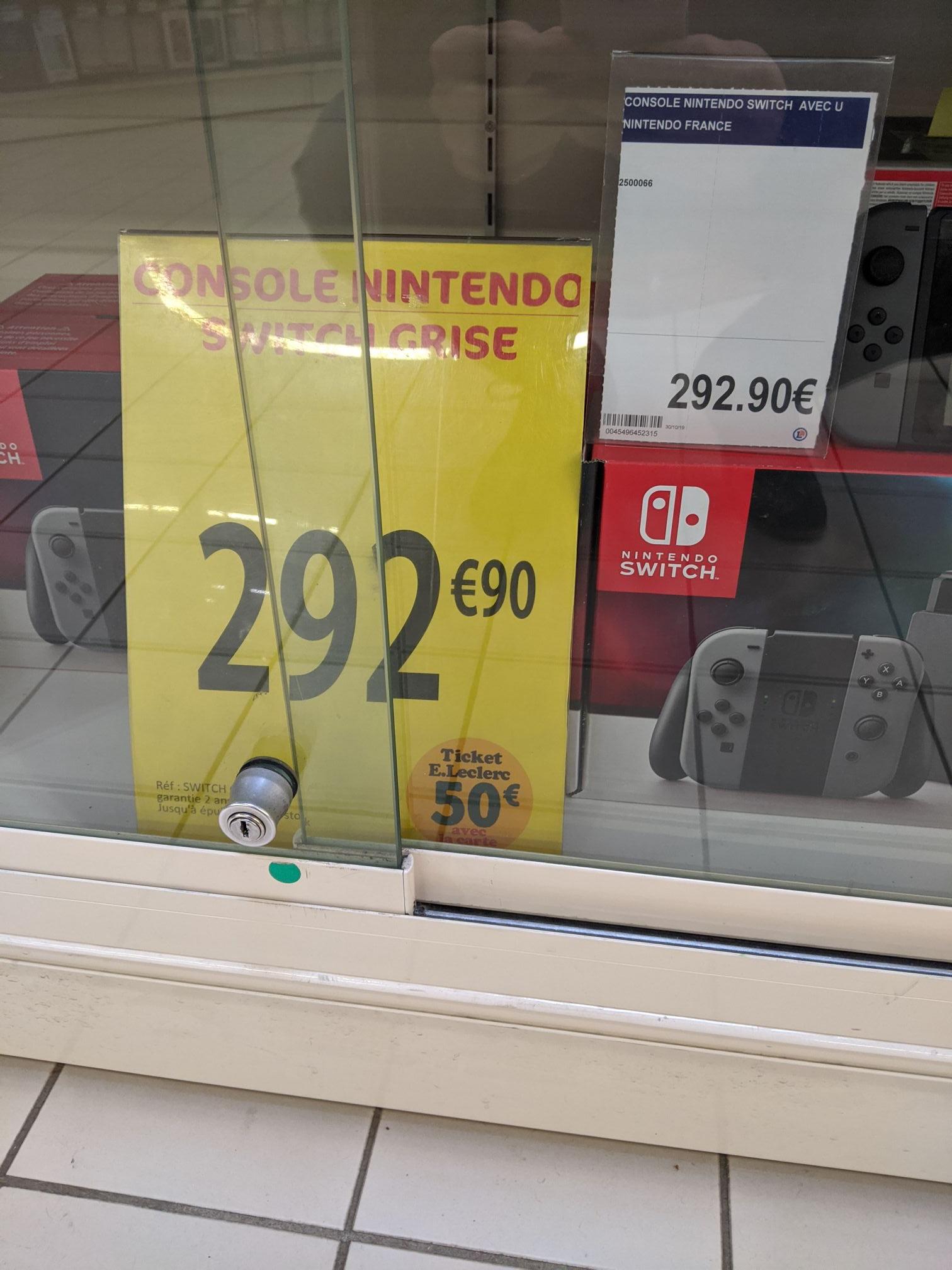 Console Nintendo Switch 242.90€ (292.90€ avec 50€ en ticket Leclerc) - 44
