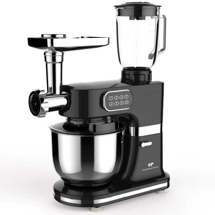 Robot pâtissier multifonctions Continental Edison - 1000W, Gris