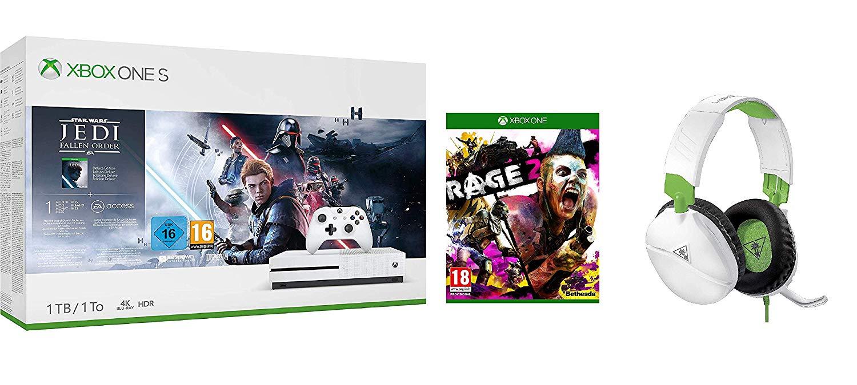 Pack Console Xbox One S - 1 To + Star Wars Jedi: Fallen Order + Rage 2 + Casque Turtle Beach Recon 70X (Frais de Livraison Inclus)