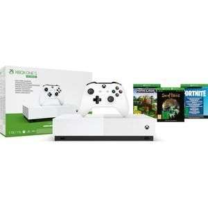 Xbox one s all digital + + Minecraft + Sea of Thieves + Fortnite