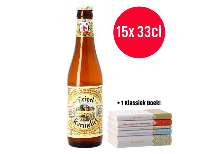 Lot de 15 bières Tripel Karmeliet - 15x33cl (Frontaliers Belgique)