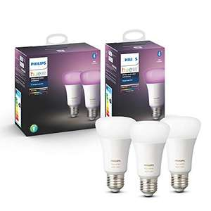 Lot de 3 Ampoules LED Connectées Philips Hue White & Color Ambiance E27