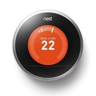 Thermostat Connecté Nest Learning 3ème Génération Gris (+ 15€ en Fidélité pour les Adhérents)