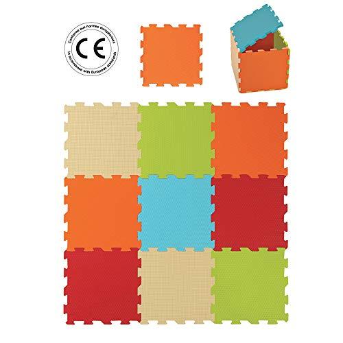 Tapis de Sol Epais Ludi 10004 pour l'Eveil de Bébé - Puzzle Géant