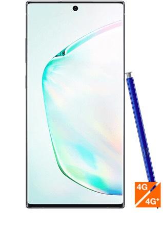 "Smartphone 6.3"" Samsung Galaxy Note 10 Argent Stellaire - Full HD+, Exynos 9825, 8 Go RAM, 256 Go"