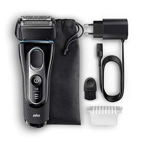 Rasoir électrique sans-fil Braun Series5 5147s Wet&Dry pour Homme - Noir/Bleu/Chrome