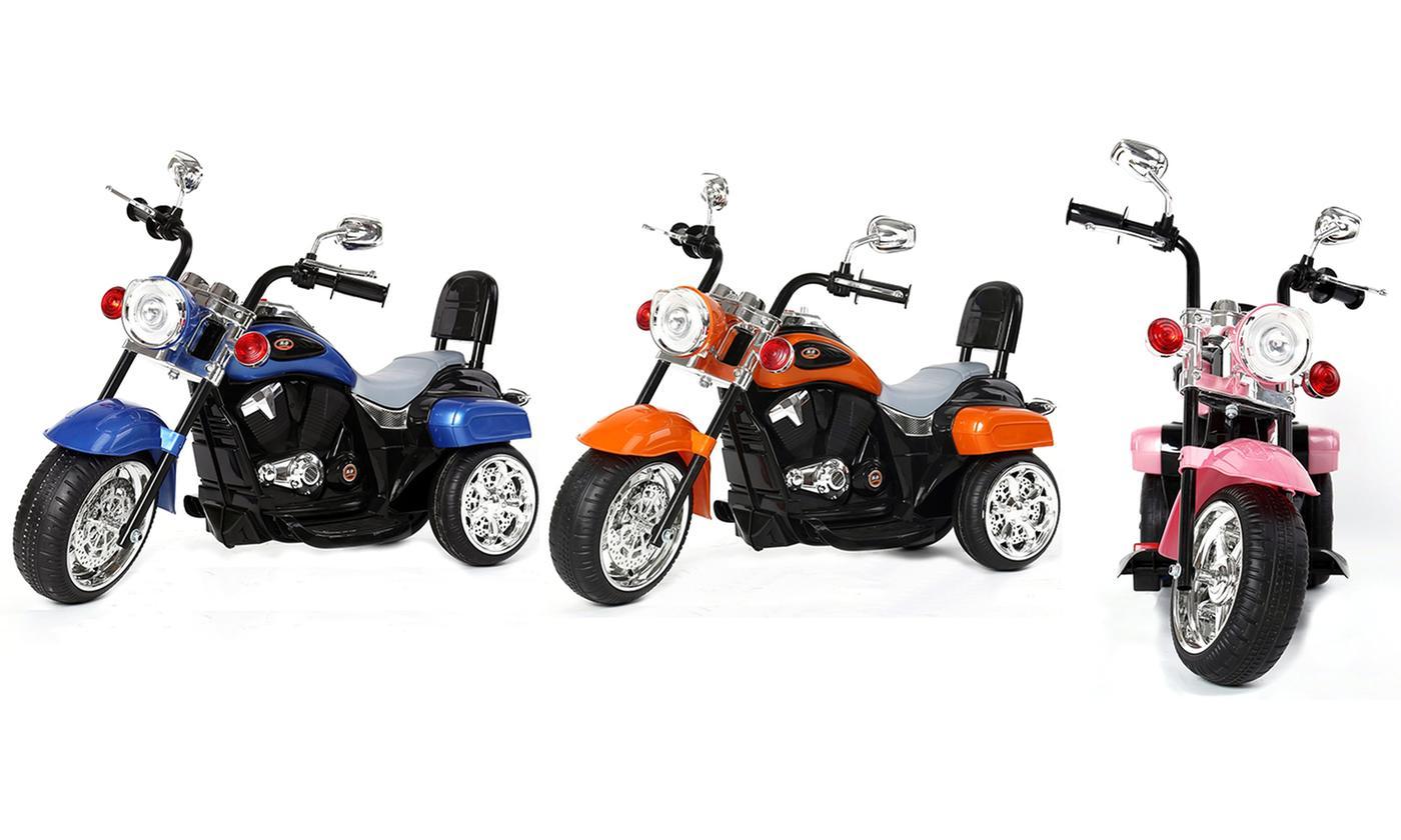 Jouet pour enfant moto électrique Chopper - 3 roues (différents coloris)