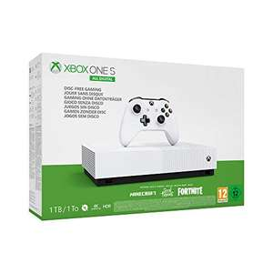 Console Microsoft Xbox One S All Digital 1 To Blanc 3 Jeux inclus (Minecraft + Sea of Thieves + Fortnite)