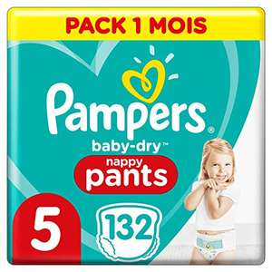 Couches-culottes Pampers Baby Dry Pants - Taille 5 (12-17 kg) - Pack 1 mois (132 culottes)