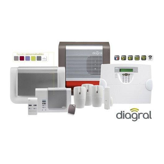 Alarme maison compatible animaux Diagral DIAG01BSF avec pose