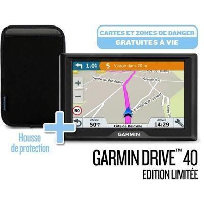 Pack GPS GARMIN Drive - 40 Cartes à vie (LM) Edition limitée + Housse de transport