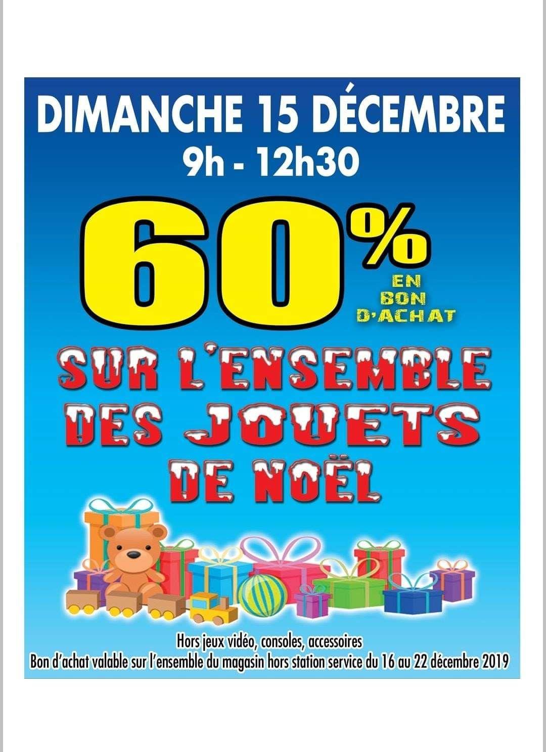 60% de remise (en bons d'achats) sur tous les jouets le 15 décembre - Super U Savigneux (42)