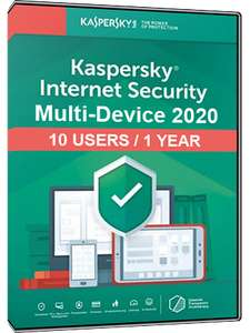 Licence Kaspersky Internet Security Multi Device 2020 - 10 postes, 1 an (Dématérialisé)