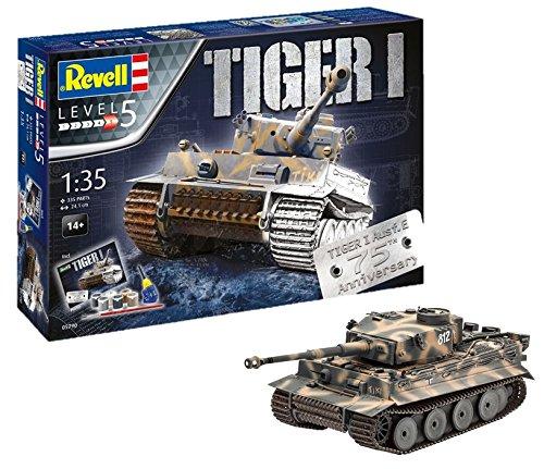 Coffret cadeau Maquette 1/35 Revell Tiger I-75 Ans (05790)