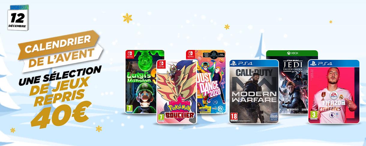 Sélection de jeux vidéo repris 40€