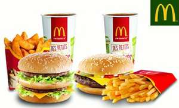 Lot de 2 menus Maxi Best Of (Big Mac, Chicken McNuggets, Filet-O-Fish ou McChicken) - Solliès-Pont ou Toulon (83)