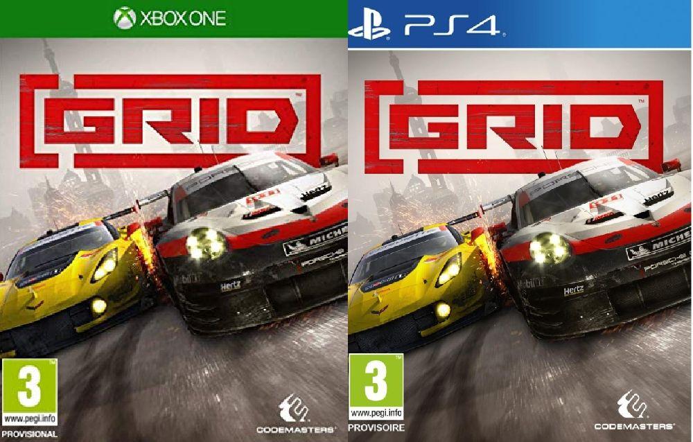 Grid sur Xbox One à 28.5€ ou sur PS4 à 28.99€