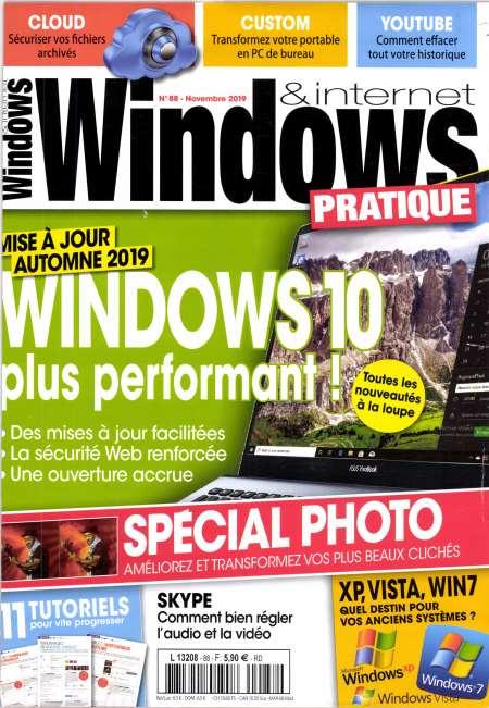 Abonnement de 6 mois au magazine Windows & Internet Pratique (6 numéros)