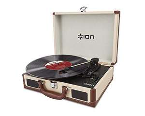 Tourne-disque valise portable ION Audio Vinyl Motion Deluxe (avec hauts-parleurs)