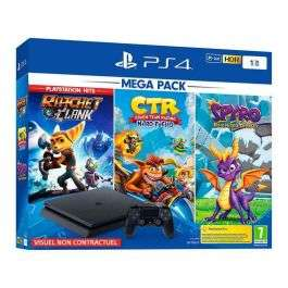 Pack Console PS4 Slim (1 To) + Crash Team Racing + Spyro Reignited Trilogy + Ratchet & Clank